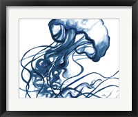 Framed Jelly Fish In Blue