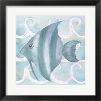 Framed Azure Sea Creatures IV
