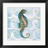 Framed Sea Creatures on Waves II
