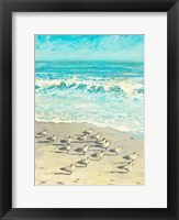 Framed Sandpiper Beach Party