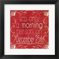 Framed Red Hot Christmas IV