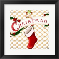 Framed Gold Christmas Cheer I