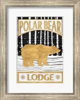 Framed Winter Lodge Sign I