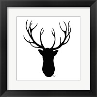 Framed Deer Head Silhouette