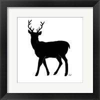 Framed Deer Silhouette