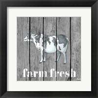 Framed Wood Farm Grey I