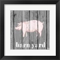Framed Barnyard Pig