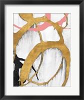 Framed Rose Gold Strokes II