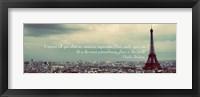 Framed Paris Expression