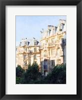 Framed Watercolor Streets of Paris III