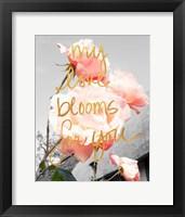 Framed Love Blooms I