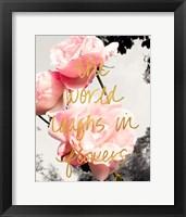 Framed Love Blooms II