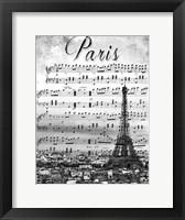 Framed Musical Paris