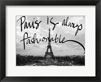 Framed Fashionable Paris