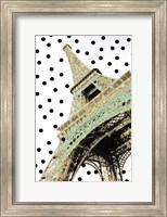 Framed Eiffel Tower with Glitter