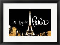 Framed Let's Fly To Paris