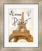 Framed Je t'aime Paris