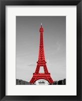 Framed Eiffel Tower in Red