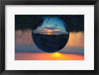 Framed Sunset Droplet View