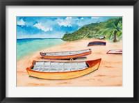 Framed Canoes on the Beach