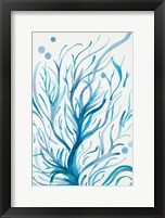 Framed Blue Dancing Tree