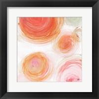 Framed Orange Contempo Light Circles