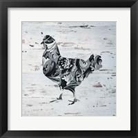 Framed Filigree Chicken on Wood