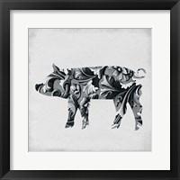 Framed Filigree Pig