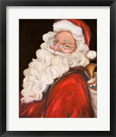 Framed Smiling Santa
