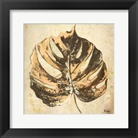 Framed Gold Contemporary Leaves I