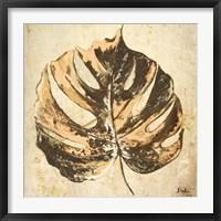 Framed Gold Contemporary Leaves I