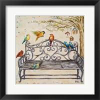 Framed Birds on the Bench