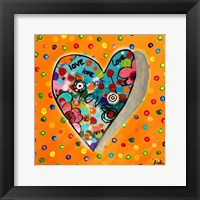 Framed Neon Hearts of Love IV