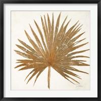 Framed Golden Leaf Palm I