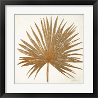 Framed Golden Leaf Palm I