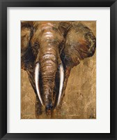 Framed Gold Elephant