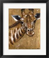 Framed Gold Giraffe