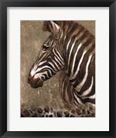 Framed Brown Zebra