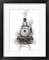 Framed Antique Locomotive