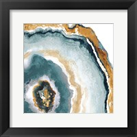 Framed Teal & Gold Agate II