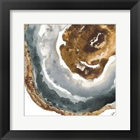 Framed Gray and Gold Agate I