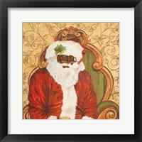 Framed African American Sitting Santa