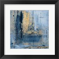 Framed Golden Blues I