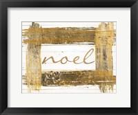 Framed Gold Noel