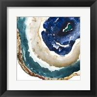 Framed Blue Agate