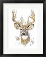 Framed Gold Antlers II