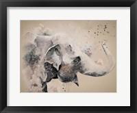 Framed Sandstone Elephant