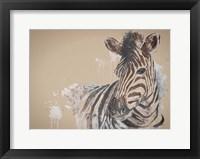 Framed Sandstone Zebra