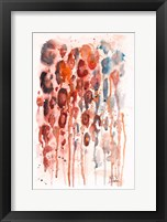 Framed Red Watercolor Animal Skin