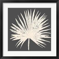 Framed Sophisticated Palm Leaf I
